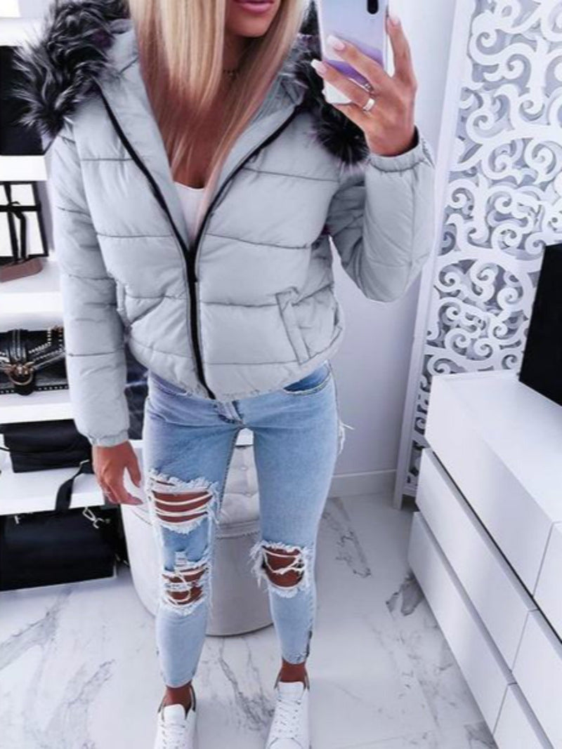 Hoodie Casual Solid Outerwear