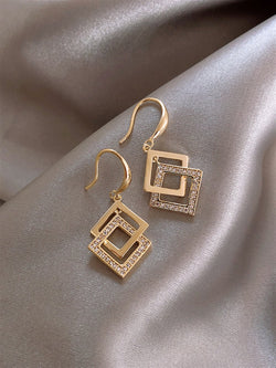 Casual Classic Daily Gentle Basic Golden Earings