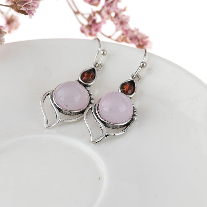 Silver Alloy Earrings