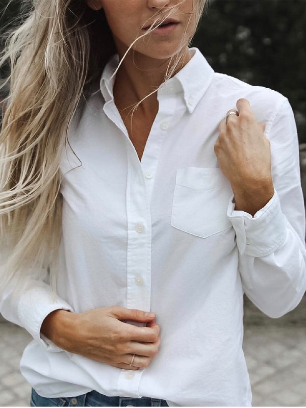 Casual Plus Size Long Sleeve Blouse Shirt