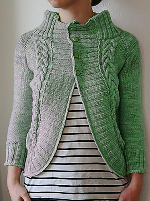 Knitted Long Sleeve Outerwear