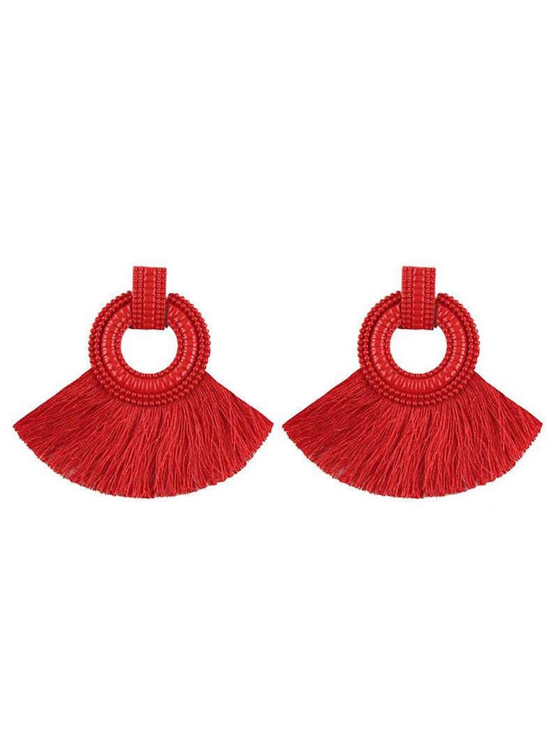 Womens Tassel Alloy Earrings