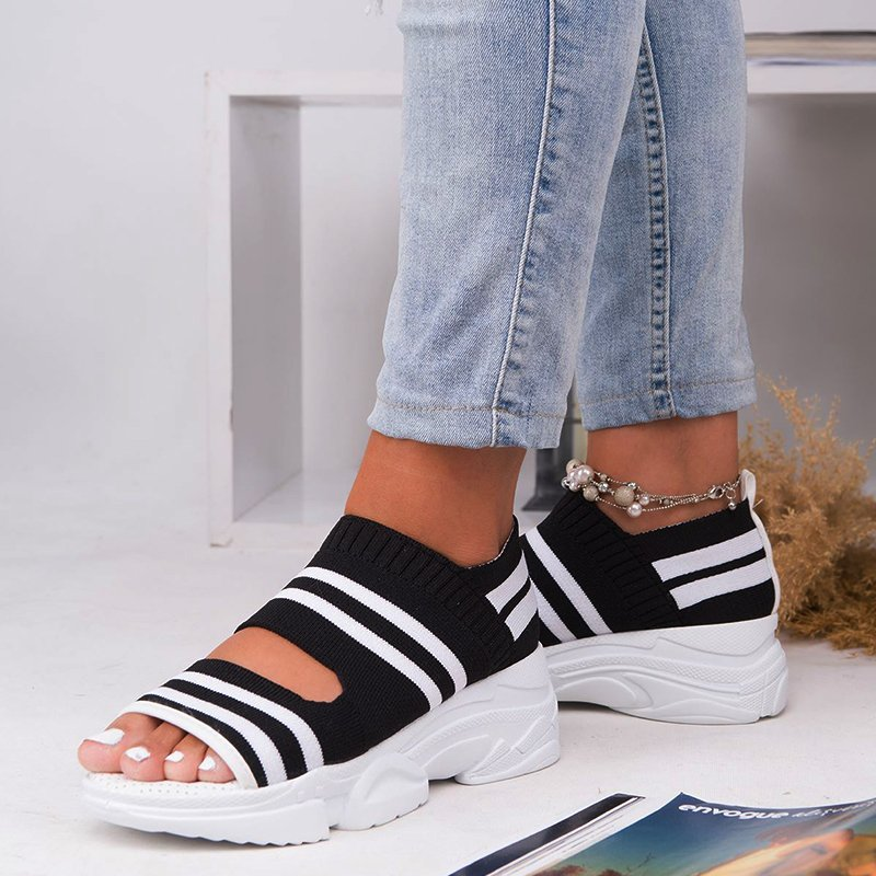 Casual Low Heel Gray Open Toe Sandals