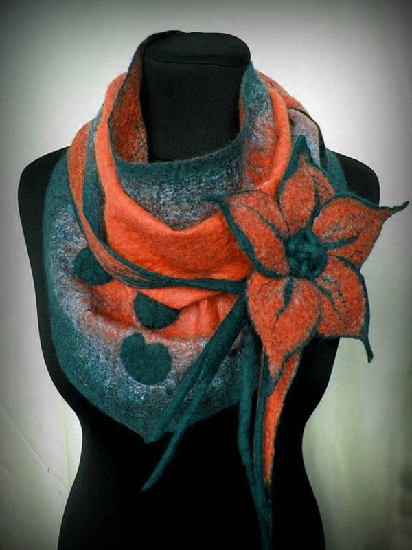 Women Vintage Polyester Scarf Accessories