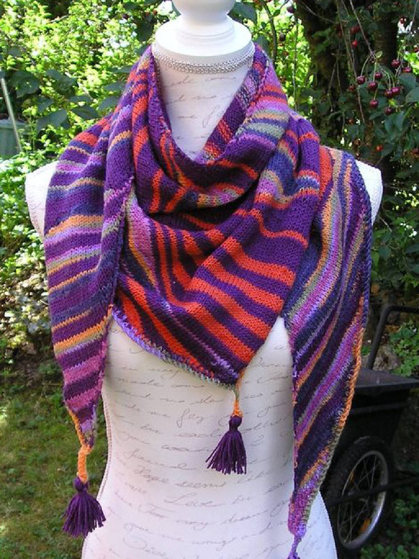 Purple Vintage Knitted Scarves & Shawls