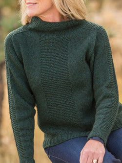 Solid Simple & Basic Turtleneck Shift Sweater