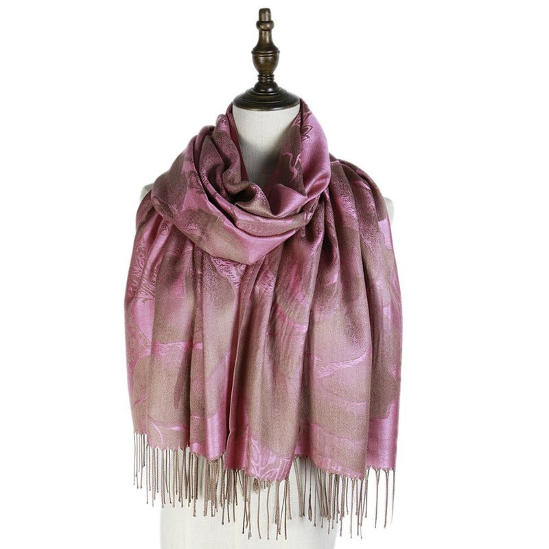 Floral Color-Block Scarves & Shawls