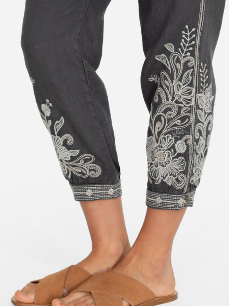 Women Printed  Loose Solid Casual Pants