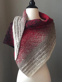 Wine Red Casual Knitted Scarves Shawls