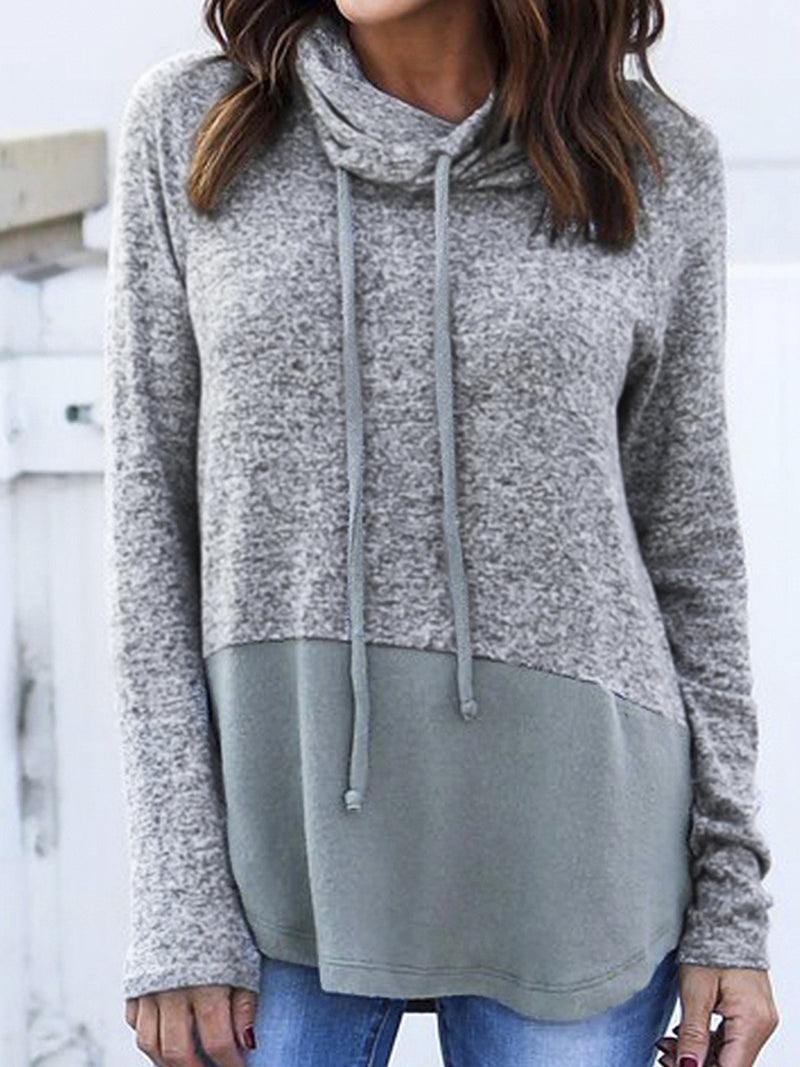 Solid Casual Paneled Hoodies & Sweatshirt