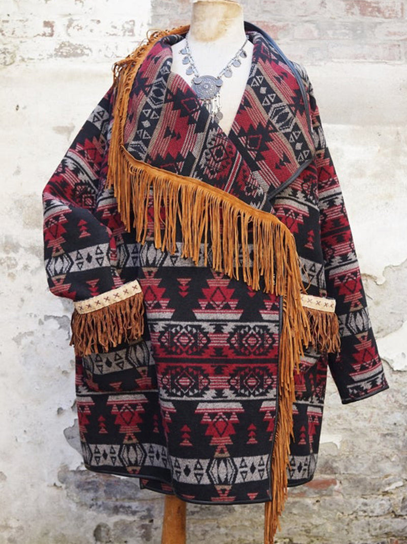 Plus size western cowboy Boho Cotton Outerwear