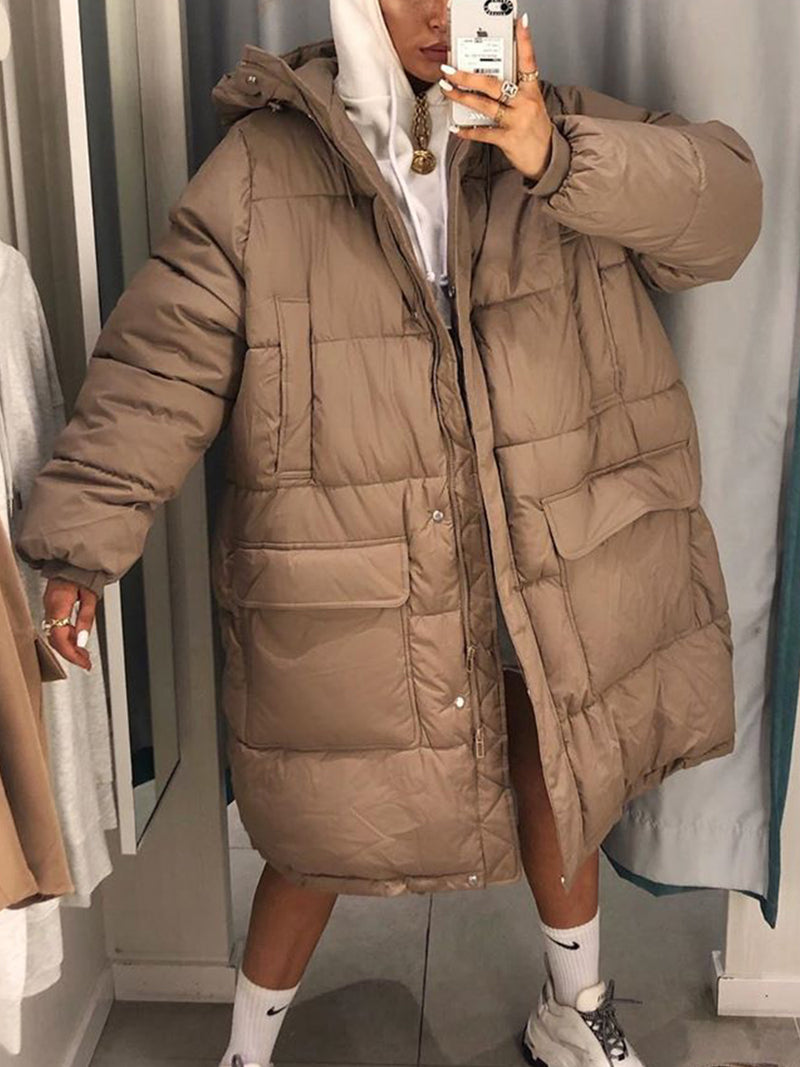 Plus size thick down jacket Cotton Casual Outerwear