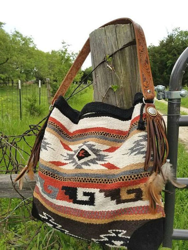 Cotton-Blend Shoulder Bags