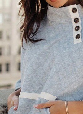 Light Gray Casual Long Sleeve Sweatshirt