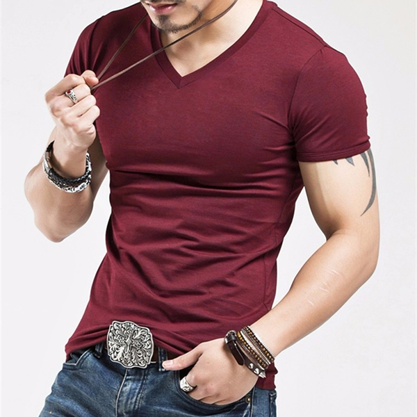 2018 Men's Fitness Casual Solid T-shirt