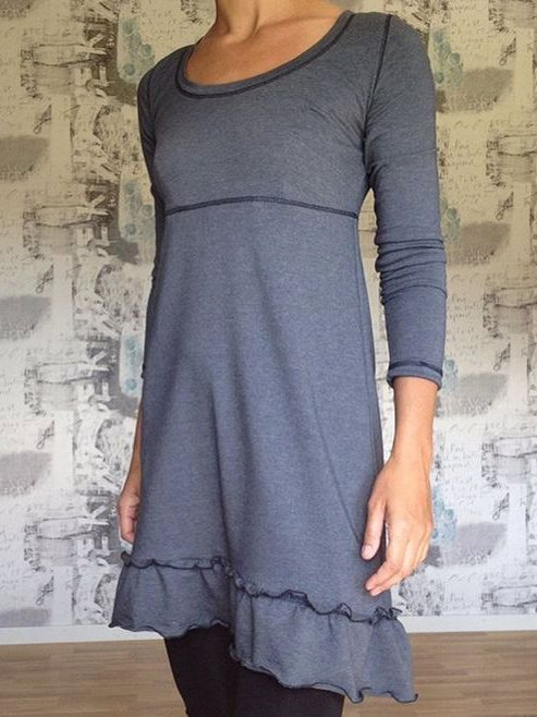 Gray Shift Casual Dresses