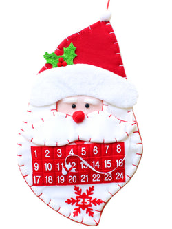 Santa Countdown Calendar Christmas Decorations Gift Ornaments