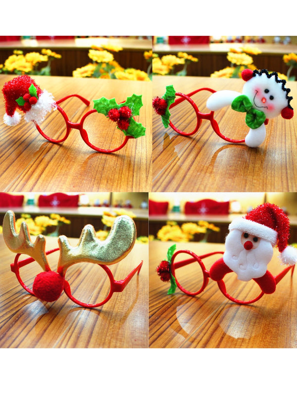 Christmas Glitter Party Glasses Frame Costume Eyeglasses Party Decoration