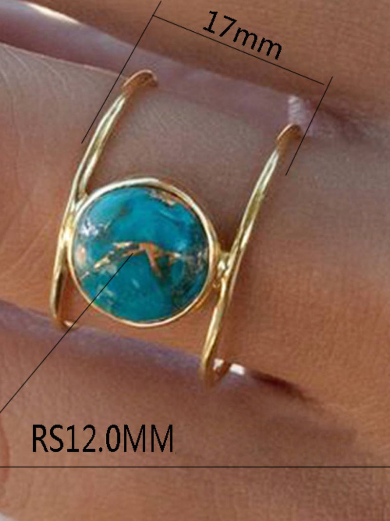 Golden Turquoise Vintage Rings