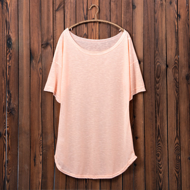Crew Neck Shift Summer Dress For Women