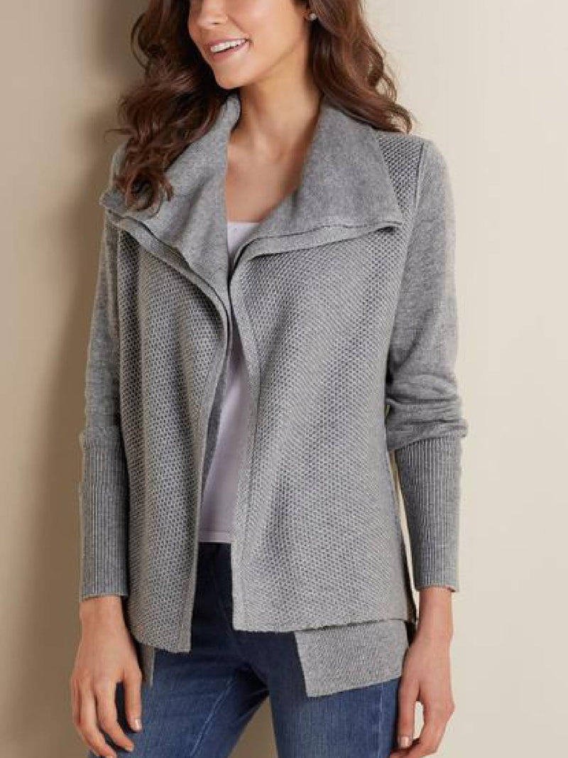 Long Sleeve Shawl Collar Casual Outerwear