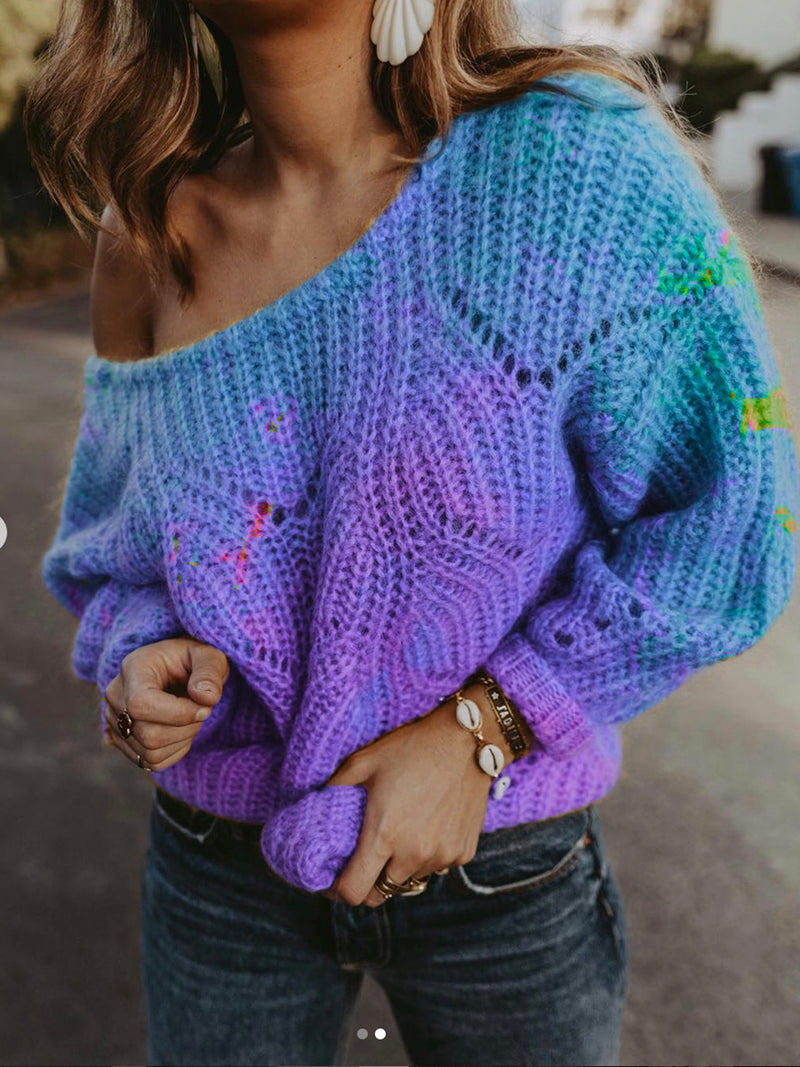 Dyed Long Sleeve Sweater