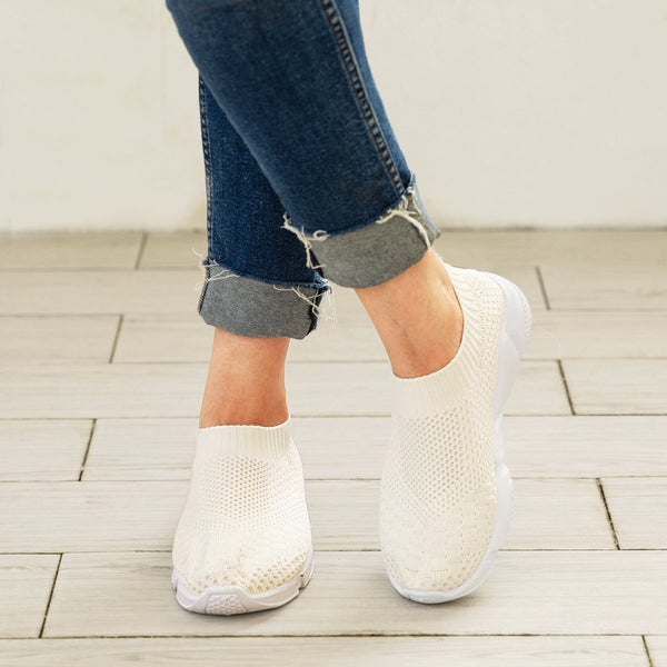 All Season Platform Middle Heel Daily Sneaker