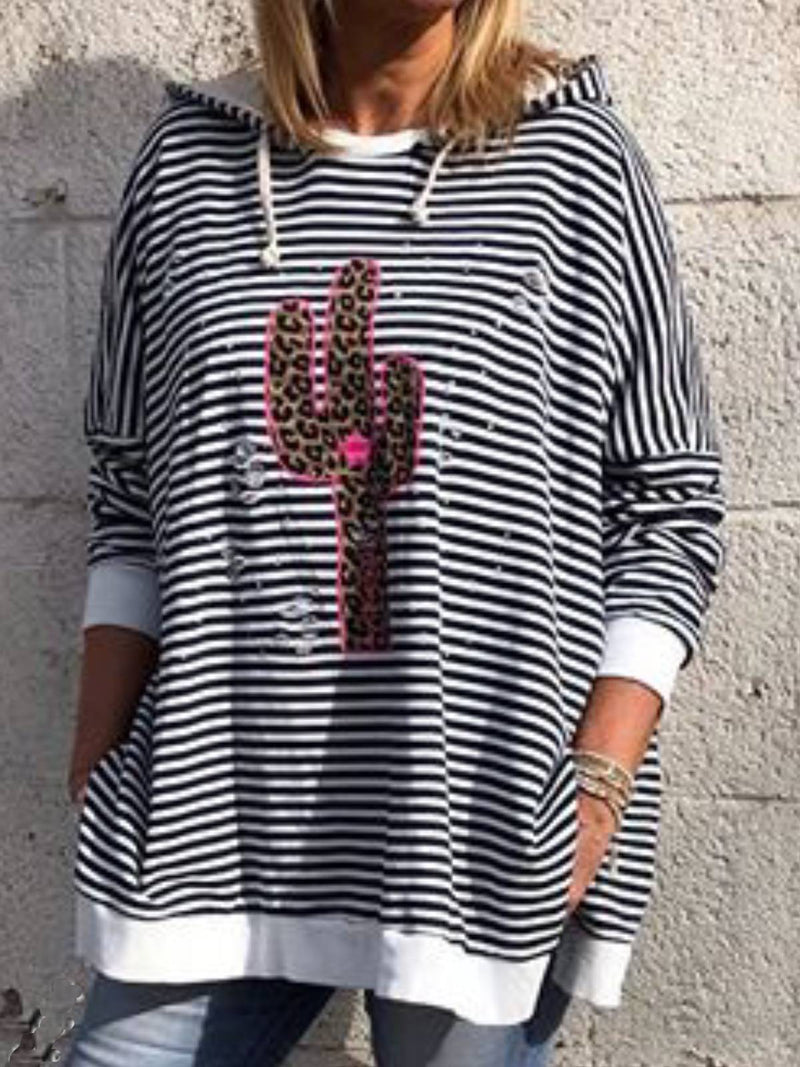 Black Casual Stripes Shirts & Tops