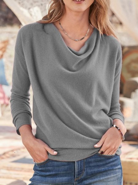 Red Long Sleeve Casual Shirts & Tops