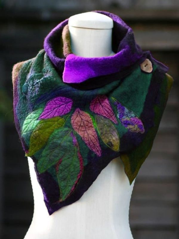 Women Fahion Vintage Autumn Green Scarf