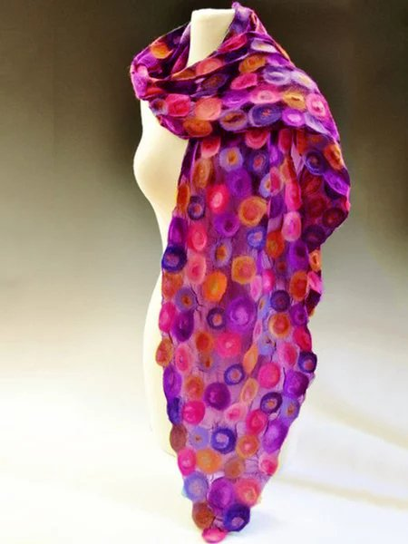Multicolor Cotton Vintage Floral Scarves & Shawls