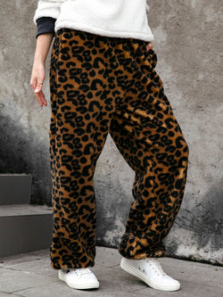 Casual Daily Leopard-Printed Pants