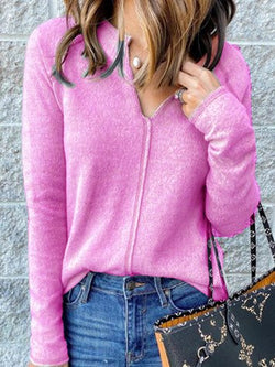 Long Sleeve Solid Sweater