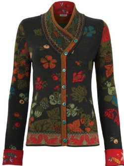 Black Cotton-Blend Long Sleeve Printed Round Neck Outerwear