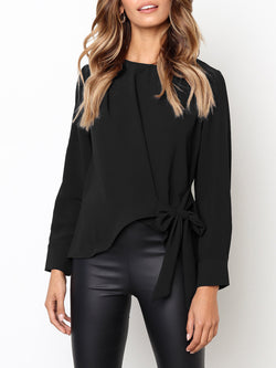 Irregular Long Sleeve Shirt