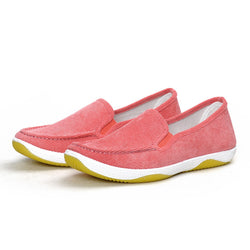 Women Corduroy Loafers Casual Comfort Slip On Shoes