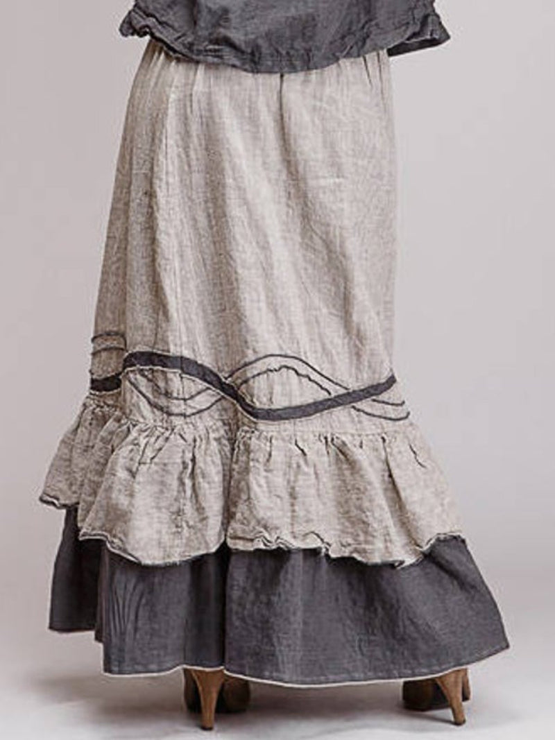 Casula Cotton Ruched Vintage Skirts