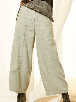 Plain Casual Natural Pants