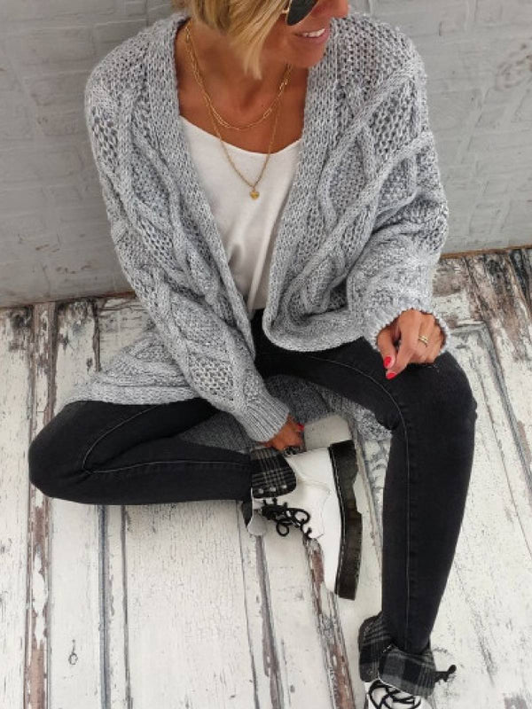 Casual Long Sleeve Sweater Outerwear