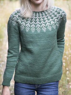 Casual Shift Vintage Knitted Sweater