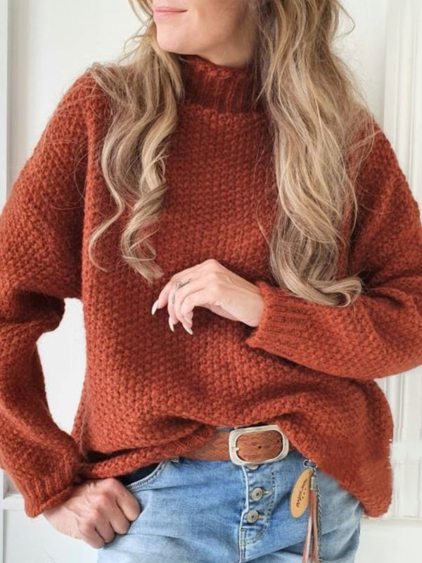 Shift Plain Casual Round Neck Sweater