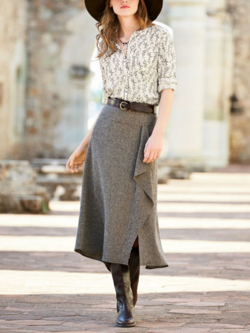 A-Line Casual Plain Skirts