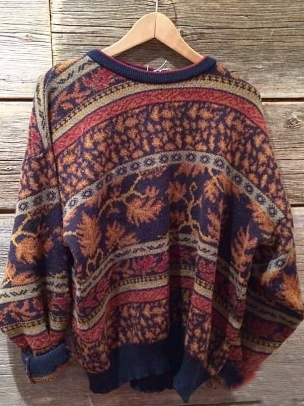 Casual Floral-Print Tribal Sweater