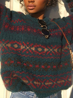 Casual Knitted Vintage Sweater