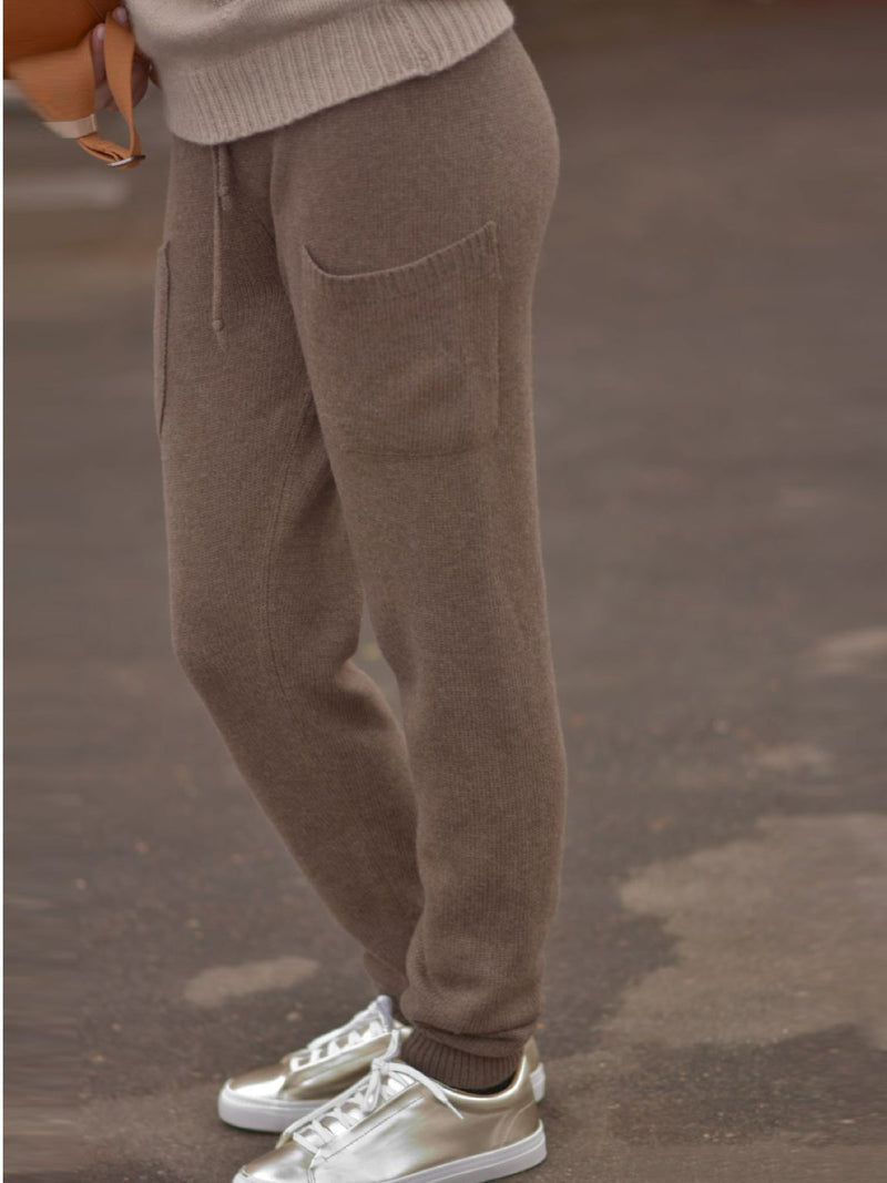 Knitted Casual Shift Solid Pants