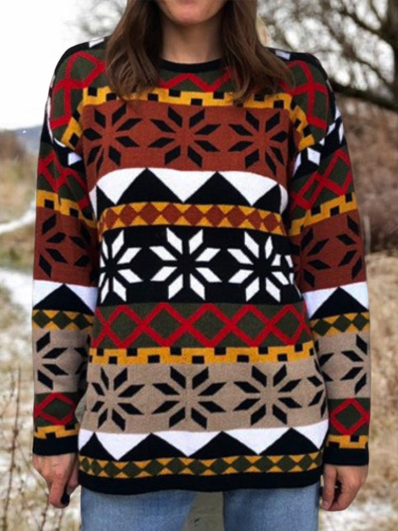 Casual Tribal Floral-print Outerwear