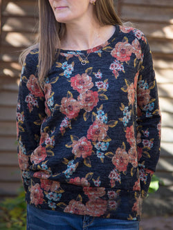 Multicolor Floral-Print Casual Tops