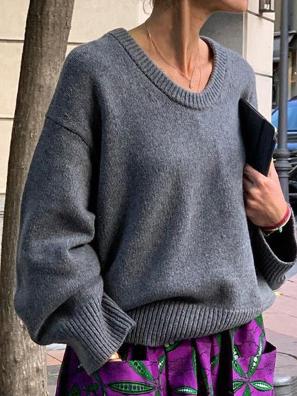 Plian V Neck Casual Sweater