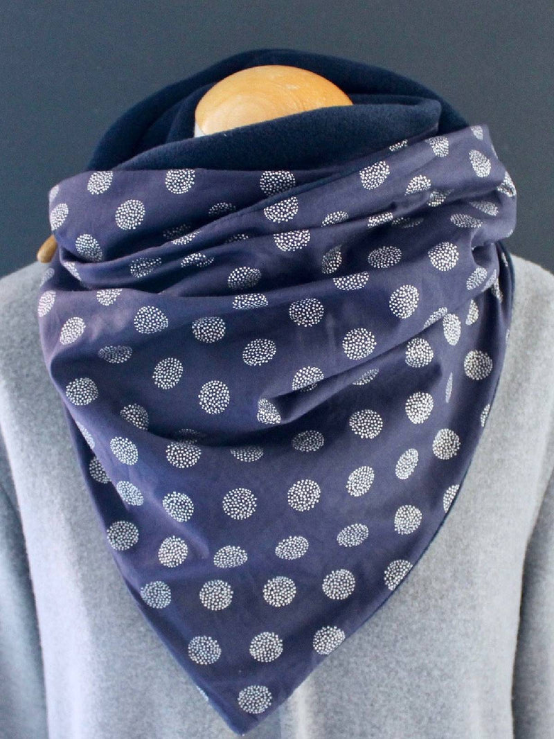 Cotton-Blend Floral-Print Casual Scarves & Shawls