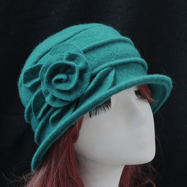 Vintage Knitted Floral Hats